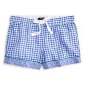 New J. Crew Mixed Gingham Cotton Pajama Shorts S